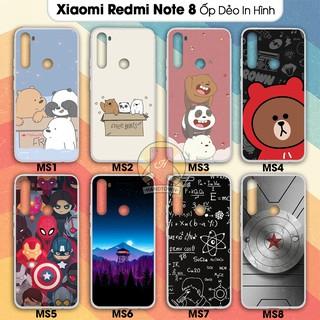 [Mã ELORDER5 giảm 10K đơn 20K] Ốp lưng Xiaomi Redmi Note 8 dẻo đen in hình