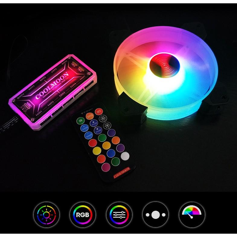 Fan RGB Coolmoon Y1 - Quạt Tản Nhiệt Máy Tính