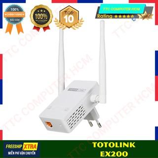 TOTOLINK EX200 EX200 - Bộ mở rộng sóng Wi-Fi chuẩn N 300Mbps - HÀNG CHÍNH HÃNG TTC COPUTER HCM thumbnail
