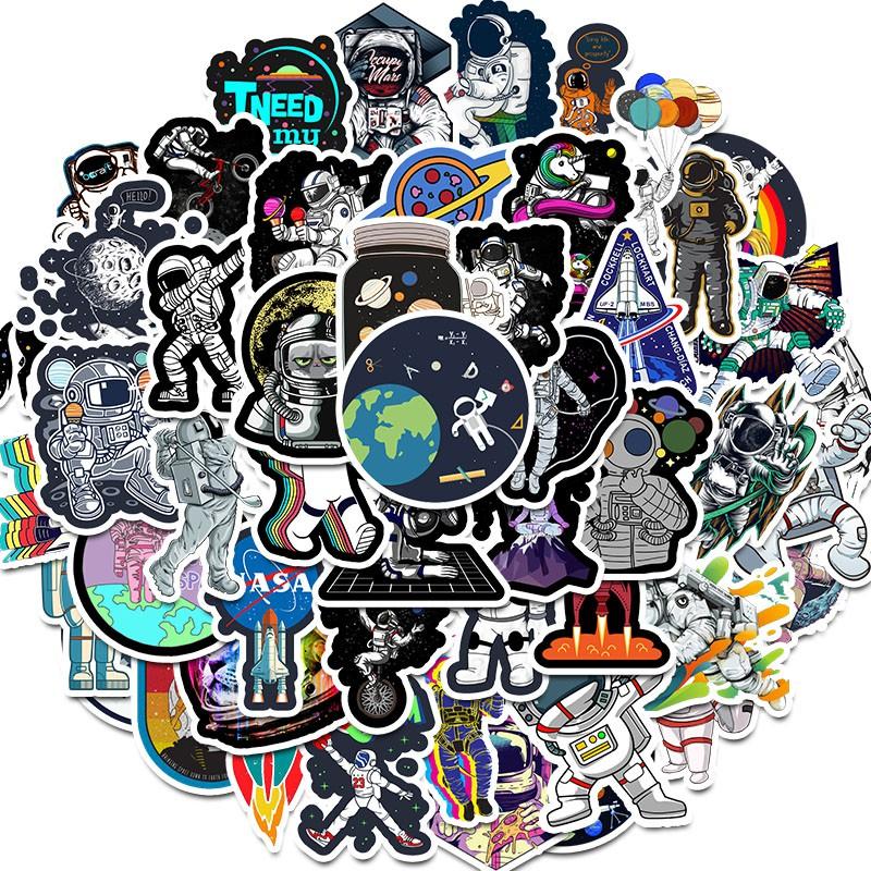 50 Sticker Dán Chống Nước Hình Phi Hành Gia Nasa