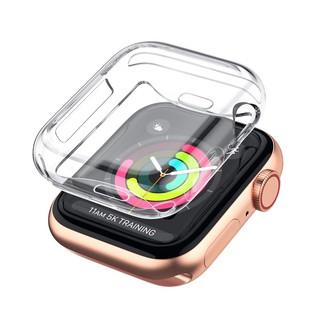 Bộ 2 Case Ốp Dẻo Silicon Dành Cho Apple Watch 40mm Series 4 (Chống Va Đập Trầy Xước, Chống Bụi, Bảo Vệ Viền Và Mặt Đồng