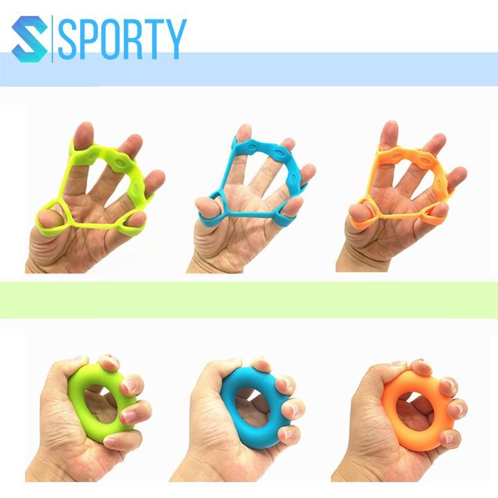 Dụng cụ luyện tập cơ ngón tay bằng silicone cao cấp bộ bóp tập 6 món bóp tay YGW27 hỗ trợ các bài tập cơ tay SPORTY
