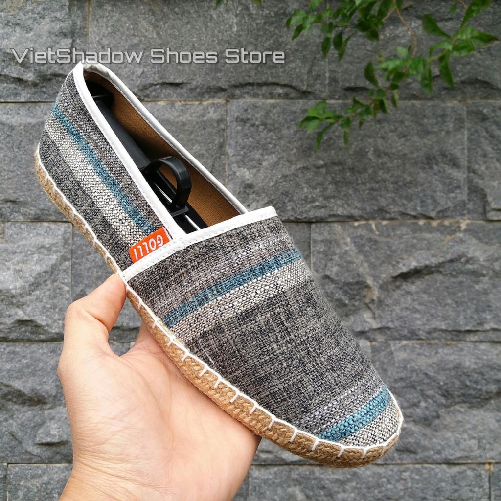 Slip on | giày lười vải nam đế bo đay, vải màu ghi sọc xanh đậm - Mã SP 605 - 3139169 , 134913042 , 322_134913042 , 255000 , Slip-on-giay-luoi-vai-nam-de-bo-day-vai-mau-ghi-soc-xanh-dam-Ma-SP-605-322_134913042 , shopee.vn , Slip on | giày lười vải nam đế bo đay, vải màu ghi sọc xanh đậm - Mã SP 605