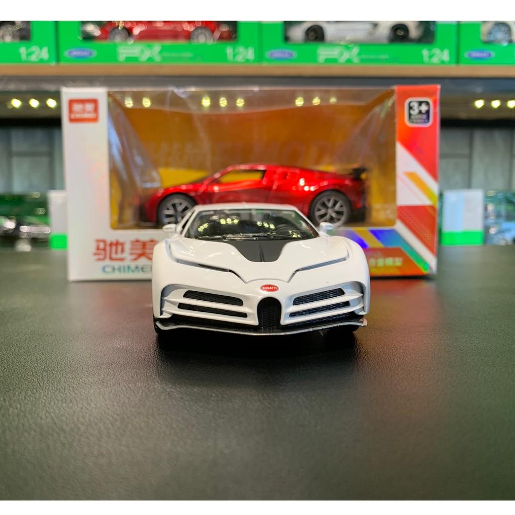 [FREESHIP] Xe mô hình trưng bày siêu xe Bugatti Centodieci tỉ lệ 1:32 CHIMEI màu trắng