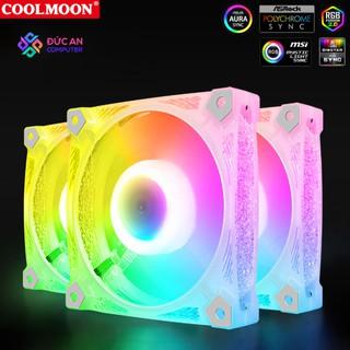 Quạt Tản Nhiệt, Fan Case Led RGB Coolmoon D2 - Đồng Bộ Hub thumbnail