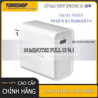 Củ sạc iPhone 12 Chính hãng Devia 3A 20w- Củ sạc thông minh-sạc nhanh PD-30 phút Full 55%