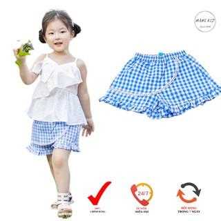 chân váy cho bé gái cực yêu Mami kid, họa tiết kẻ sọc phối ren điệu thumbnail