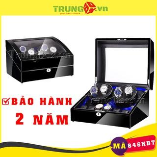 Hộp Đựng Đồng Hồ Cơ 4 Xoay 6 Tĩnh Vỏ Gỗ Sơn Mài Cao Cấp (Đèn LED) - Mã 846KBT thumbnail