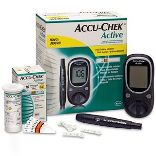 Máy đo đường huyết Accu Chek Active- TẶNG KÈM 15KIM+ 15 QUE THỬ