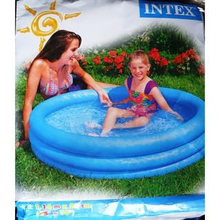 hồ bơi bể bơi phao intex 3 tầng xanh dương 1m14x25cm. 800gr. 59416