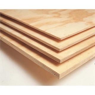 Gỗ dán plywood tấm 600x1220x11mm mặt trắng