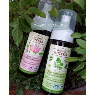 Foam rửa mặt thảo mộc lành tính dịu nhẹ Tiệm thuốc xanh - Green pharmacy_rửa mặt tạo bọt apteka thumbnail