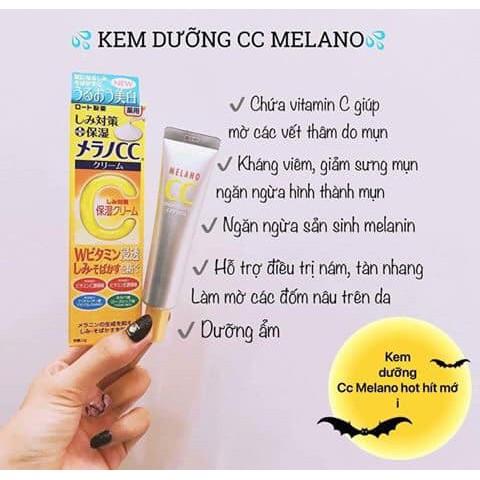 Kem dưỡng Trị Thâm Trắng Da CC Melano Moisture Cream