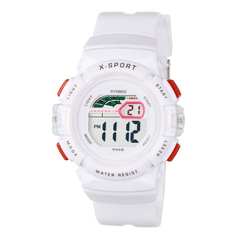 Đồng hồ trẻ em bé gái Synoke 9568 SY9368 điện tử dây cao su mặt tròn