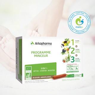 Nước uống (30 ống) thải độc, giảm cân 3 tác động cho người trên 15 tuổi Arkopharma Programme Minceur, Pháp thumbnail