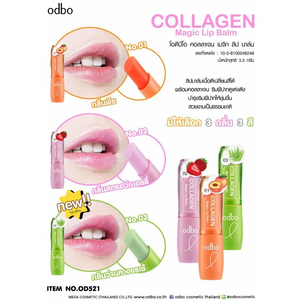 [Auth Thái] Son Dưỡng Môi Odbo Collagen Magic Lip Balm