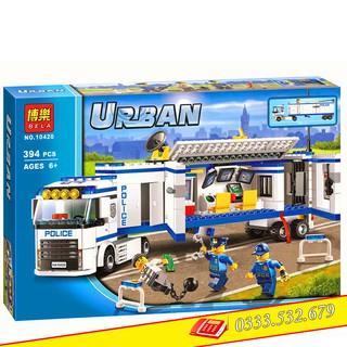 Bộ Lego Lắp Ráp Ninjago Urban Trạm Cảnh Sát Lưu Động 10420/394 PCS (Chi Tiết). Xếp Hình Lego Đồ Chơi Trí Tuệ