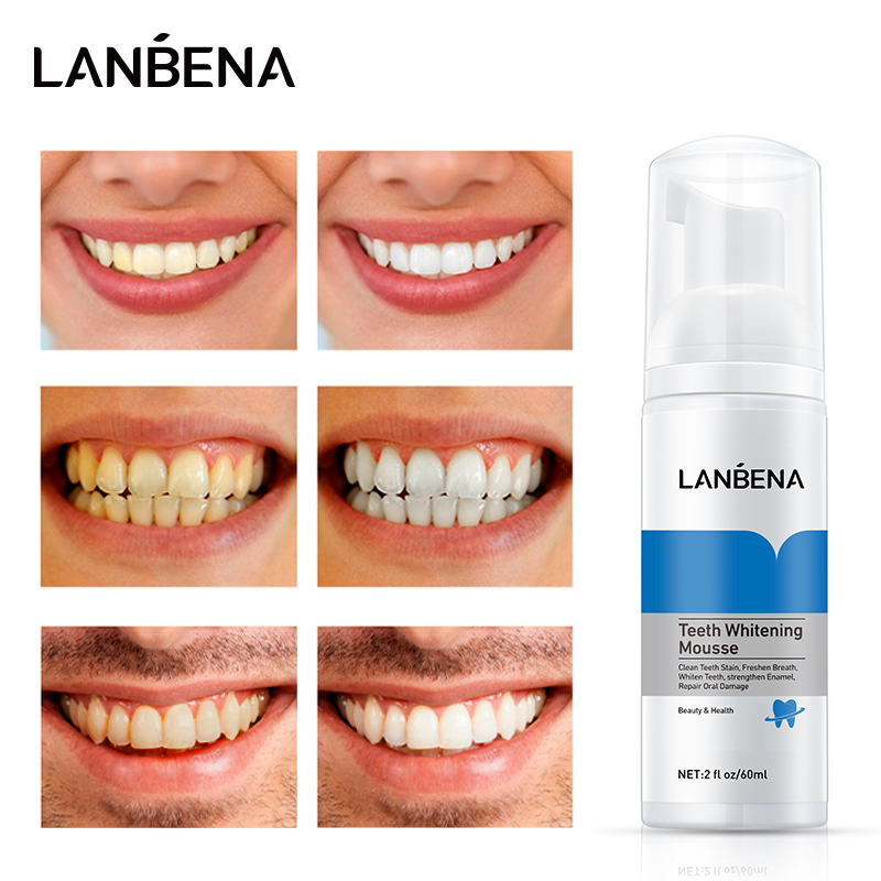 LANBENA Kem đánh răng và nước súc miệng hai trong một làm sạch/trắng răng 60ml