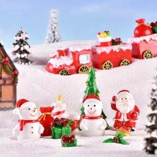 Mô hình ông già nô en và người tuyết dùng trang trí khu vườn - hình 4