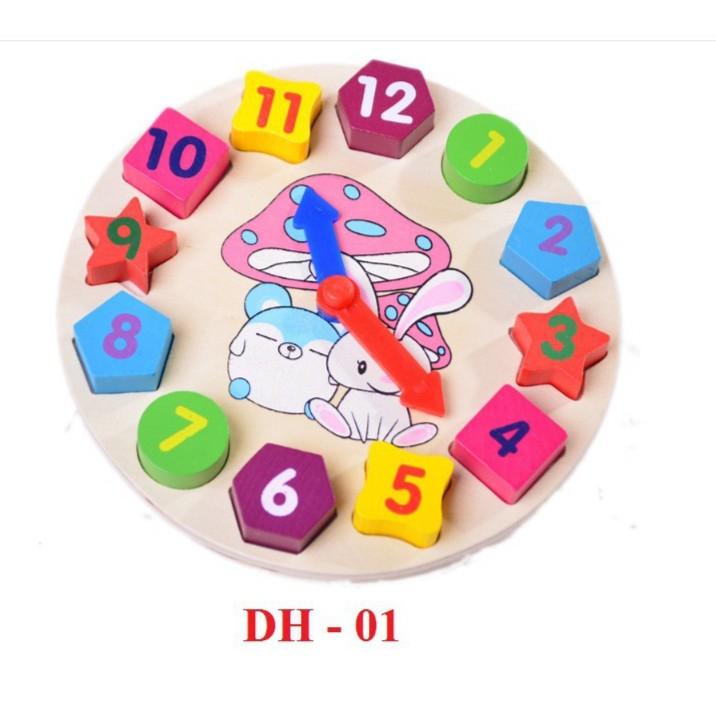 [ HOT DEAL ] Đồ chơi đồng hồ gỗ cho bé