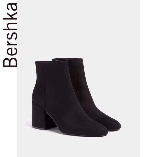 Boot đen Bershka