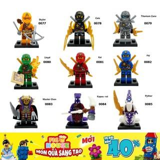 Minifigures Các Nhân Vật Ninjago DECOOL 0077-0085 - Đồ Chơi Xếp Hình Lắp Ráp [B12] thumbnail