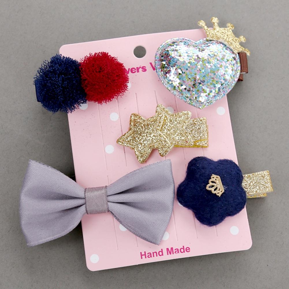 ♚➔❤Kids Baby Girl Hair Bowknot Princess Gift Hairpin Hair Clips Barrette Headwear