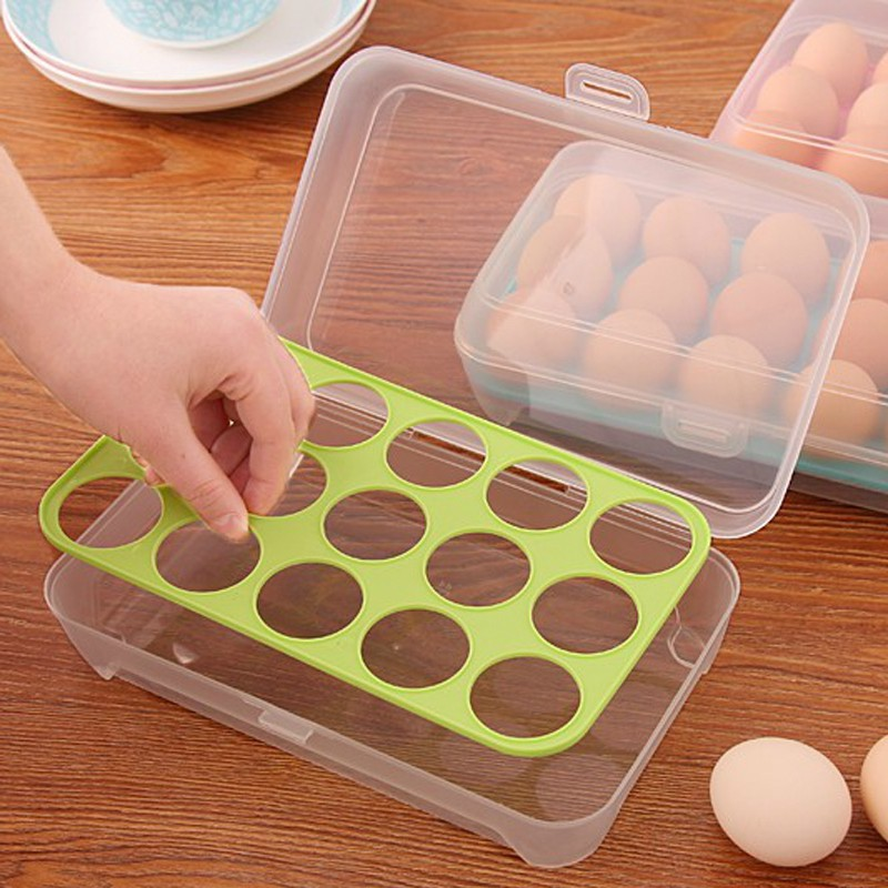 Hộp Đựng Trứng 15 Ô Tiện Lợi