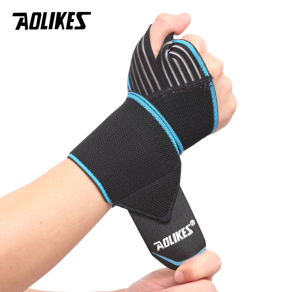 AOLIKES 1PCS Adjustable Opening Design Weight Lifting Wristband Wrist Support Brace Straps Wraps