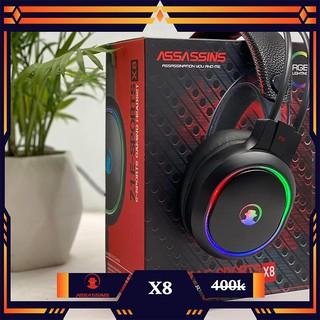 Tai nghe ASSASSINS X8, âm thanh giả lập 7.1 – Led RGB, ốp tai dày cao cấp Bảo hành 1 năm