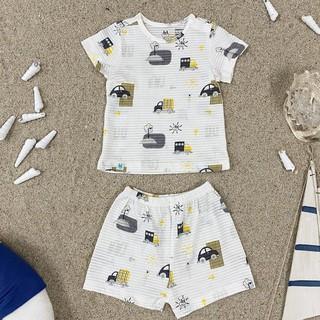 Bộ quần áo cộc tay cotton giấy Little love