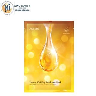 Mặt Nạ Dưỡng Da Mật Ong Chuyên Sâu, Làm Mờ Đốm Nâu, Vết Thâm AGE20 s Honey SOS Day Luminous Mask 30g thumbnail