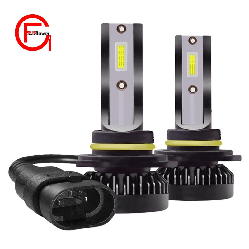 A Pair of Cars -800W-16000LM- 9012-LED-6000K Car Headlights Beam Lights Far and Near Light Bulb