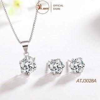 Bộ Trang Sức Bạc 925 Đính Đá Thời Trang Dành Cho Nữ ANTA Jewelry - ATJ3028A thumbnail