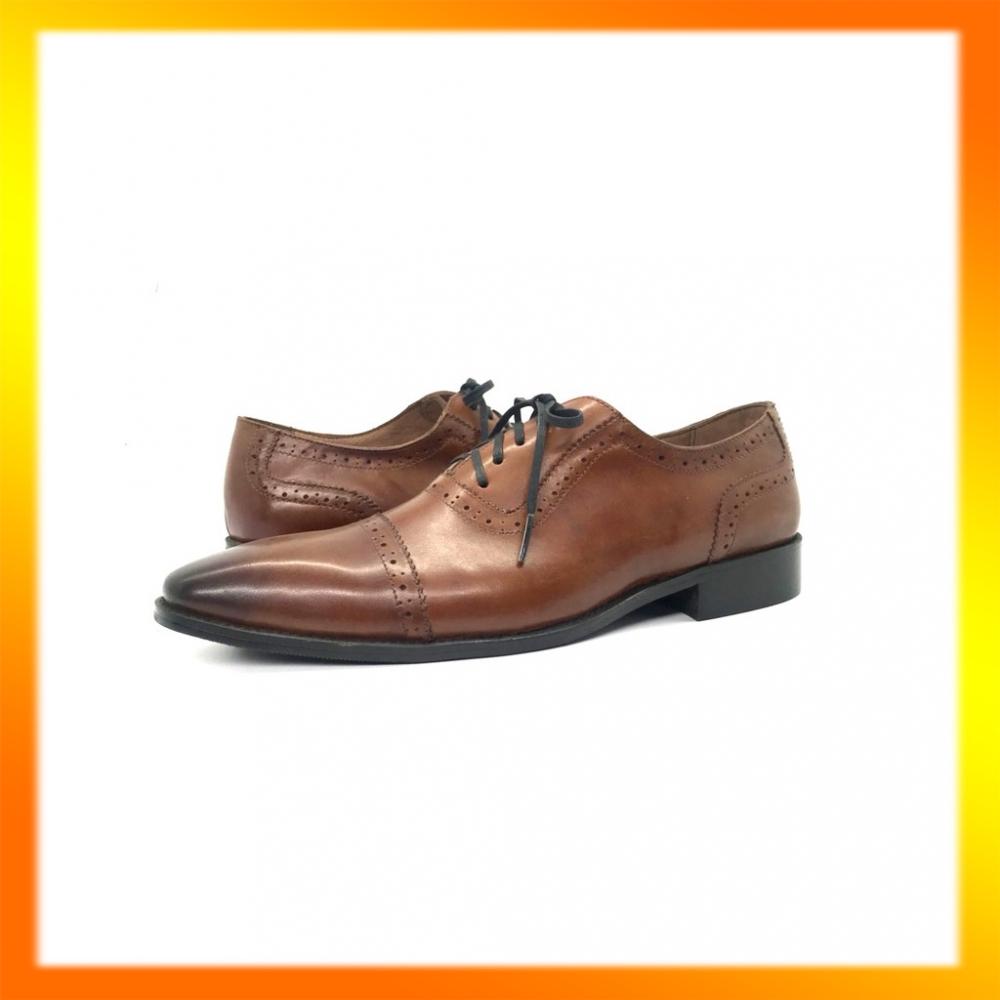[FREESHIP] Giày tây nam da bò đánh màu patina bảo hành 1 năm