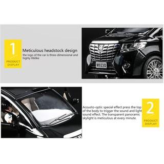 ★peaire★ Toyota Alpha Business Alloy Car Car Model Simulation Metal Toy Car