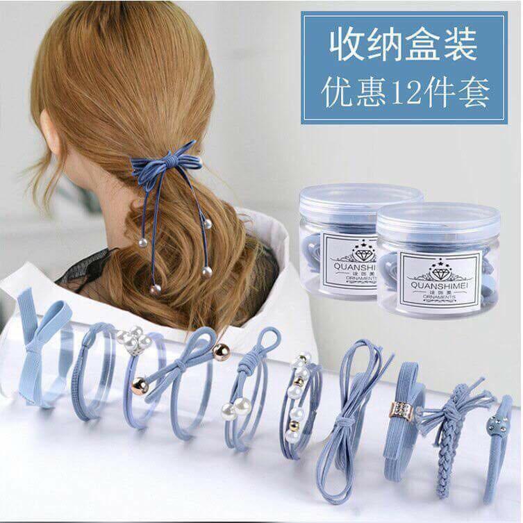 Set 12 dây buộc tóc mềm Hàn Quốc kèm hộp - 318 - 2693050 , 1231533081 , 322_1231533081 , 50000 , Set-12-day-buoc-toc-mem-Han-Quoc-kem-hop-318-322_1231533081 , shopee.vn , Set 12 dây buộc tóc mềm Hàn Quốc kèm hộp - 318