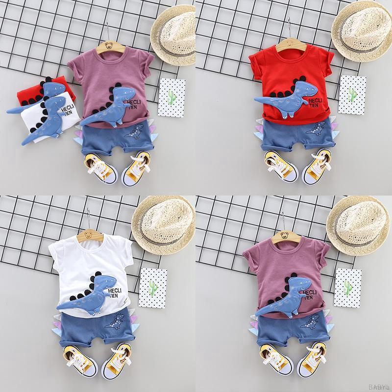 Bộ quần áo mùa hè phong cách Hàn Quốc cho bé trai