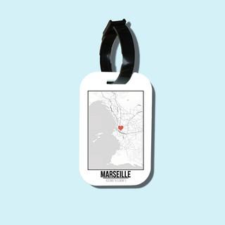 Travel tag cho túi xách balo du lịch in hình Love City - Marseille thumbnail