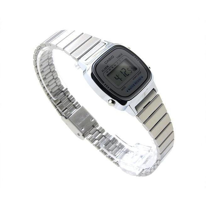 [Mã FABRR5503 giảm 20% đơn 249K] Đồng hồ điện tử nữ CASIO chính hãng LA670W, dây kim loại