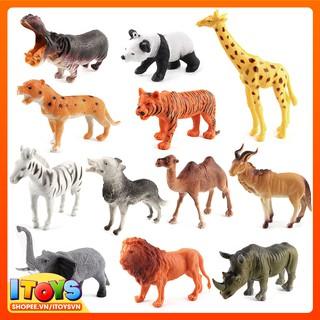 Bộ 12 mô hình động vật giúp trẻ nhận biết con vật, ITOYS – DV7