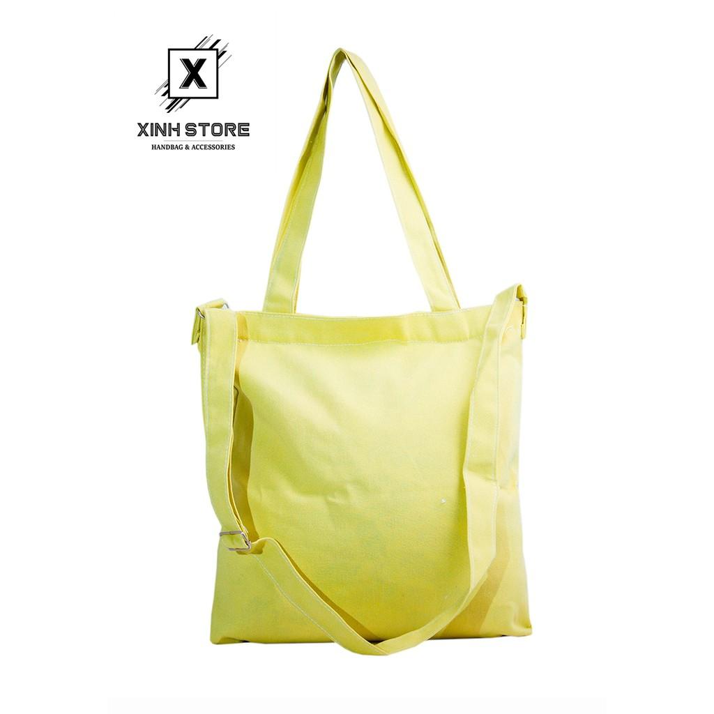Túi Vải Tote 3 Dây Cao Cấp (Vàng) Xinh Store