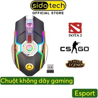 Chuột Không Dây Gaming Bluetooth SIDOTECH S5A Sạc Pin Chơi Game Không Độ Trễ Cho Game Thủ Esport Bản Cao Cấp -Chính Hãng thumbnail