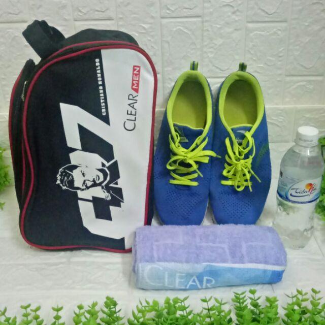 Túi thể thao nam chống nước 2  ngăn, hàng tặng Clearmen (video)