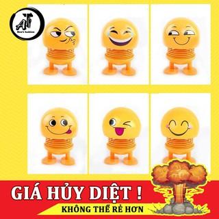 [ HOT TREND 2019 ] Thú nhún Emoji Lò Xo lắc đầu hình biểu tượng cảm xúc, Trang trí xe ô tô, bàn làm việc,Giảm stress AT.