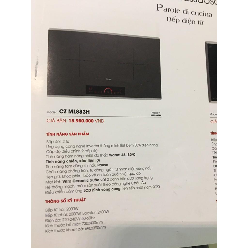 Bếp từ Canzy CZ ML883H - Nhập khẩu Malaysia - Điều khiển cảm ứng LCD dạng cung tròn, Tích hợp tính năng chiên xào
