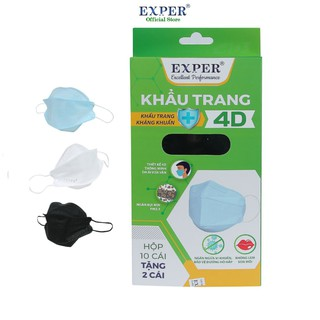 Khẩu trang y tế 4D EXPER công nghệ Hàn Quốc loại khẩu trang y tế kháng khuẩn lọc bụi mịn hộp 12 cái Exper Store thumbnail