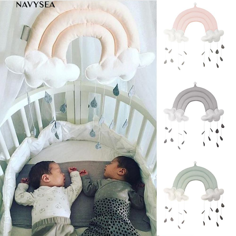 ♨3D Cloud and Raindrop Soft Cloth Baby Room Scene Hanging Decor