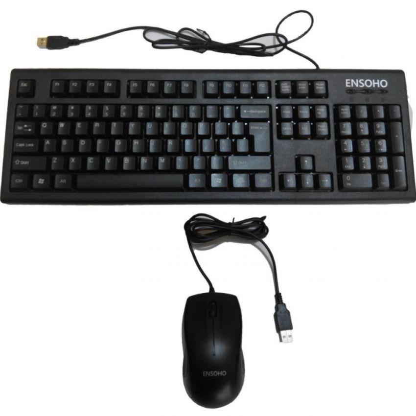 Bộ Bàn phím và chuột quang có dây Ensoho E-103CB (Đen) - 9989022 , 281864745 , 322_281864745 , 185000 , Bo-Ban-phim-va-chuot-quang-co-day-Ensoho-E-103CB-Den-322_281864745 , shopee.vn , Bộ Bàn phím và chuột quang có dây Ensoho E-103CB (Đen)