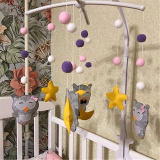 Dudu✨ Baby Crib Holder Rattles Bracket Set Clockwork Music Box DIY Bed Bell Toy